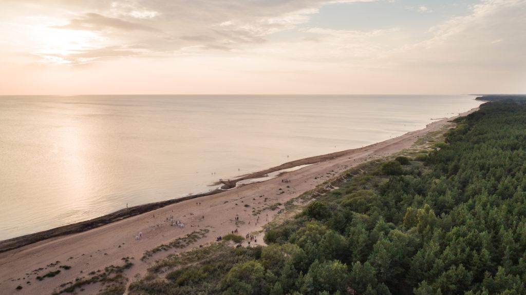 meri, beach, läti