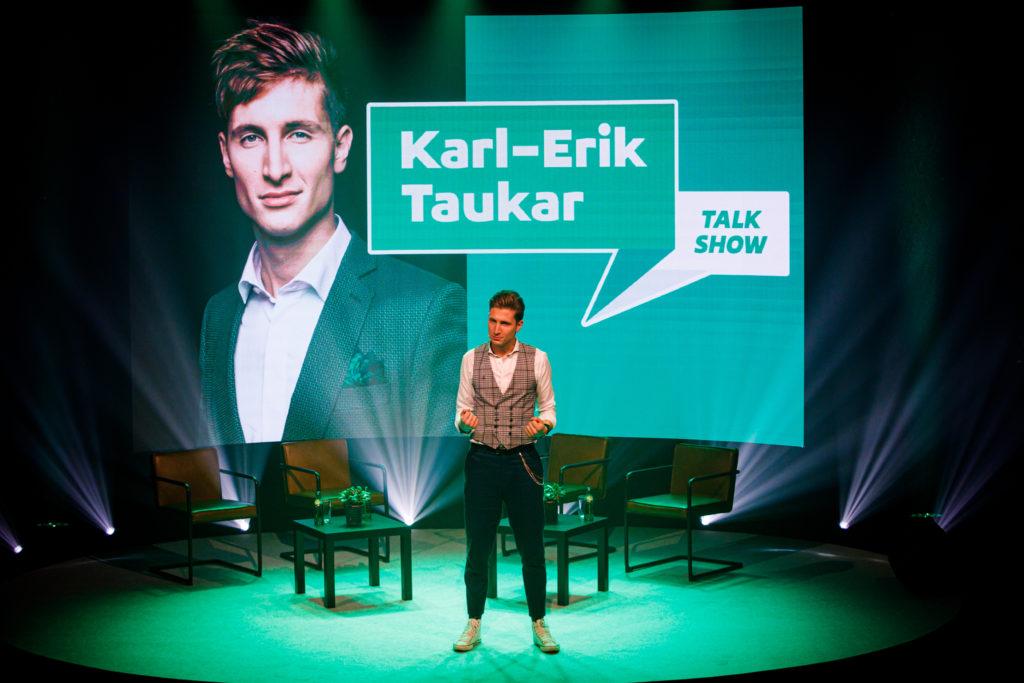 talk show-karl erik taukar-green